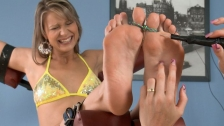 Ticklish feet by Samantha with bound toes