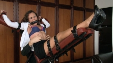 Secretary Mary is gagged and tickled